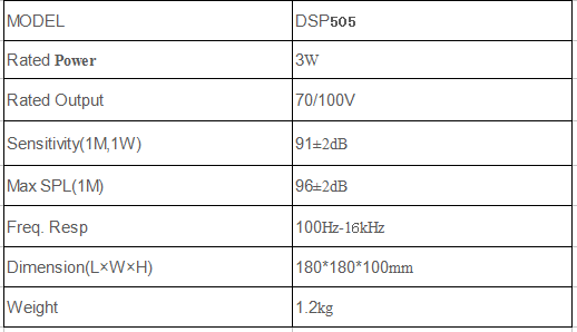dsppa fireproof ceiling speaker specification