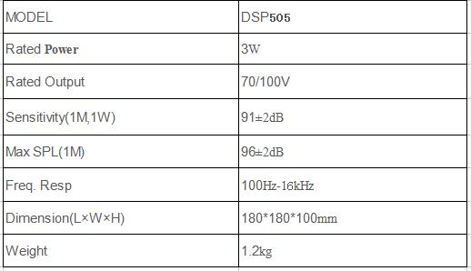 dsppa fireproof ceiling speaker specification
