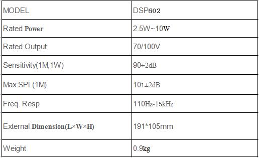 DSP602 ceiling speaker