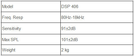 DSP406 Wall mount speaker specification
