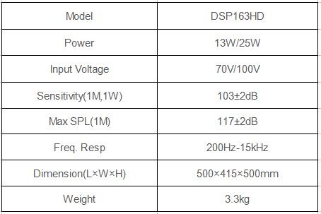 DSP163HD 13W-25W High Fidelity Horn Speaker