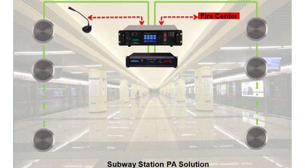 subway station public address solution