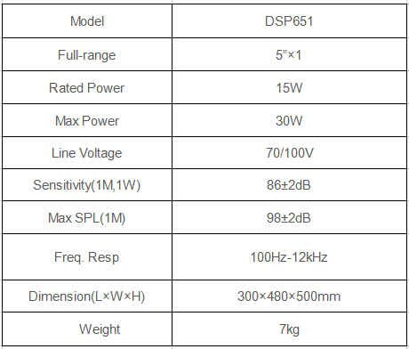 outdoor garden speaker specification