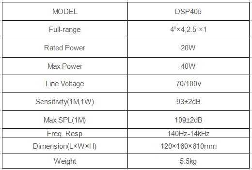 phased array speaker specification