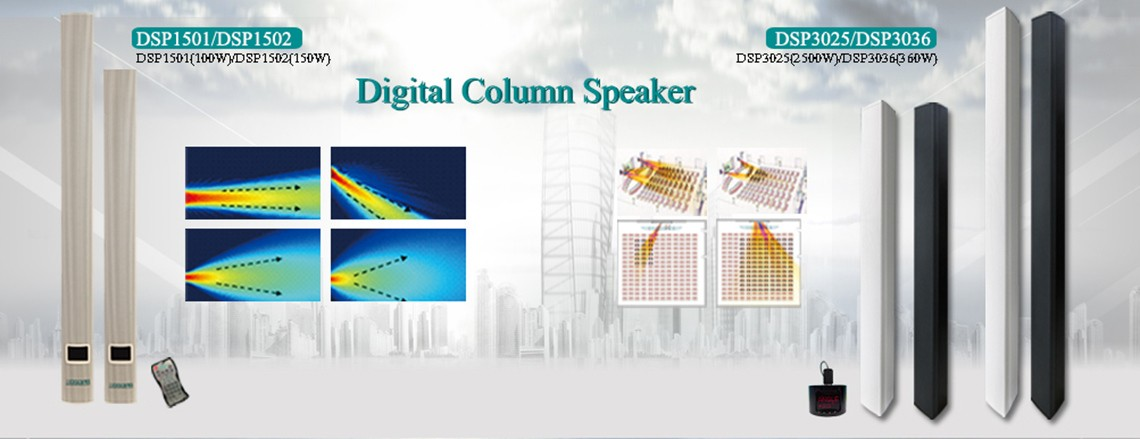 dsppa china digital column speaker