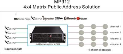 MP912 4x4 Matrix Public Address Solution