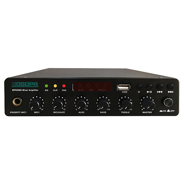 MP9306U  60W Ultra-thin Digital Mixer Amplifier