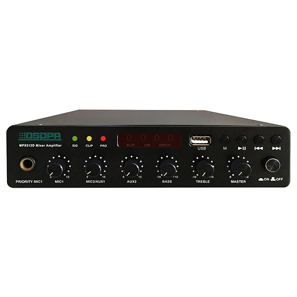 MP9312U 120W Ultra-thin Digital Mixer Amplifier