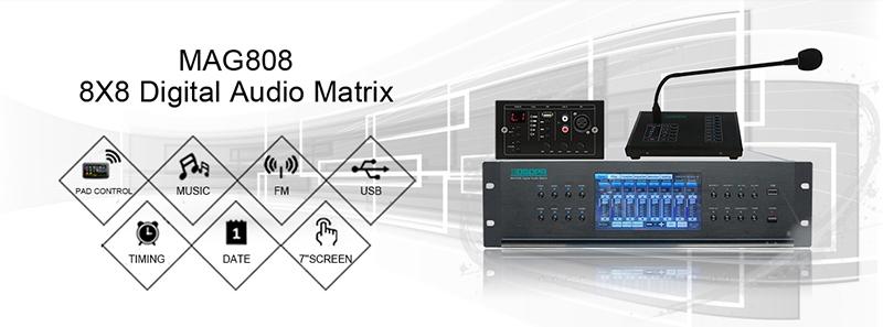 MAG808 8X8 Digital Audio Matrix