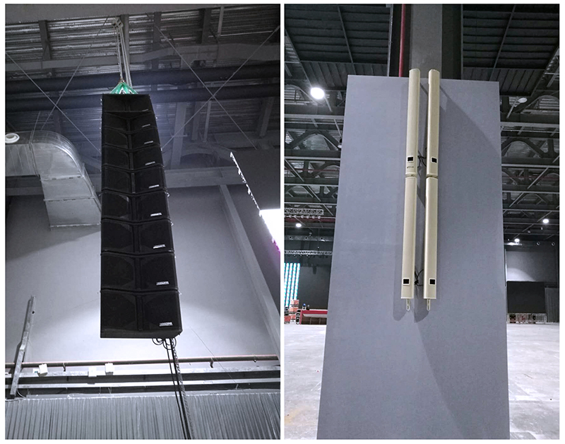 The Combination of Digital Column Speaker and Professional Array Line Speaker