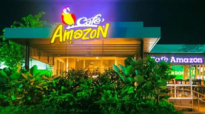 DSPPA Wall Mount Speaker Applied in Café Amazon, Thailand