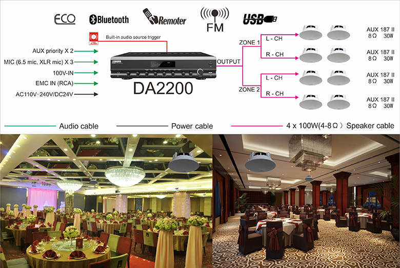 DA2200 Best BGM solution for Dining Hall