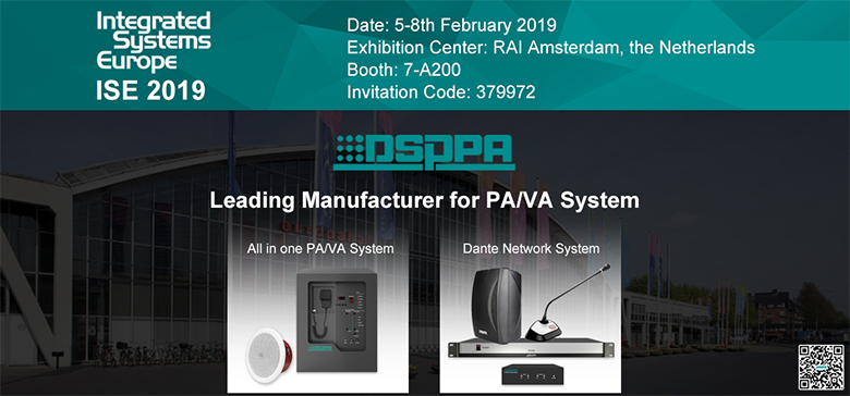 Exhibition Booth Invitation : Dsppa invites you to attend ise 2019 guangzhou dsppa audio co. ltd.