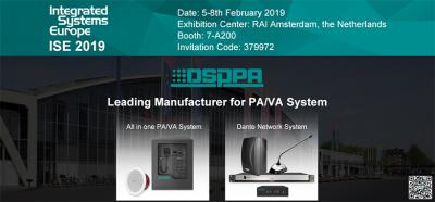 DSPPA Invites You to Attend ISE 2019