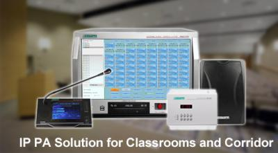 IP PA Solution for Classrooms and Corridor