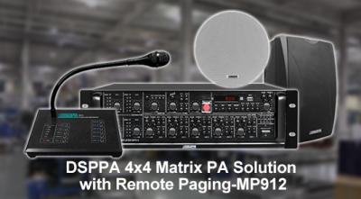 DSPPA 4x4 Matrix PA Solution with Remote Paging--MP912