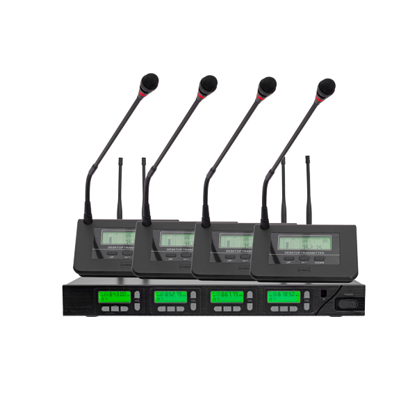 D6662 One Receiver with Four UHF Wireless Microphone
