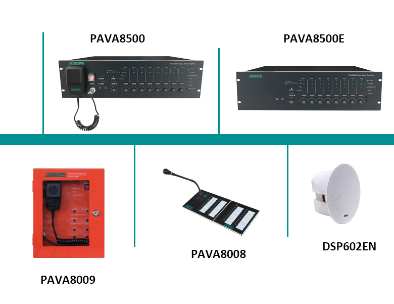 PAVA8000 Voice Evacuation System