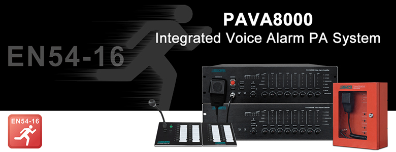 PAVA8000 Integrated Voice Alarm PA System