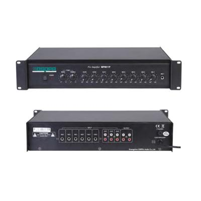 MP9811P 5 Mic 3 Aux 10 Inputs Preamplifier