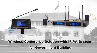 Wireless Conference Solution with IP PA System for Government Building