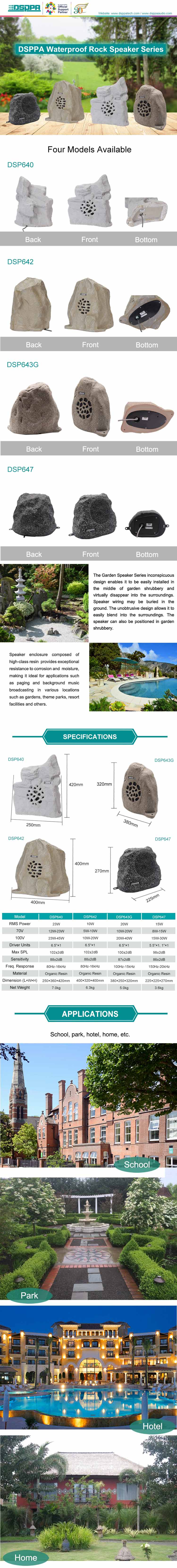 DSP647 Waterproof Rock Outdoor Garden Speaker