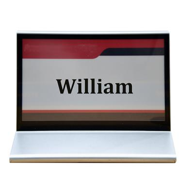D7022MS Conference Desktop Nameplate with Dual E-ink Tricolor Screens