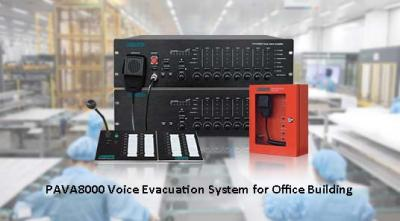 PAVA8000 Voice Evacuation System for Office Building
